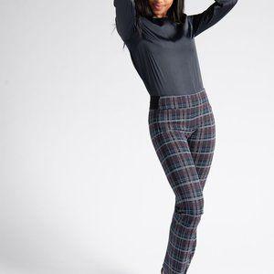 Betabrand plaid Dress Pant Straight-Leg size XL